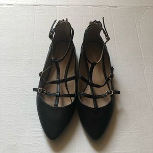 Old navy black flats woman's shoes size 9